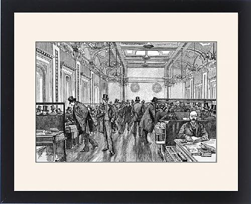 Framed Print of The Underwriting Room of Lloyd s of London, 1886 by Prints Prints Prints
