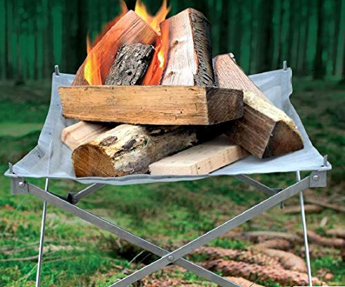 Endless Valley Outdoors Portable Fire Pit Eco-Friendly Firepit with Anti Heating Mesh and Durable Folding Base- Perfect for Camping, Trekking, Backyard, Picnic and Garden – Carry Bag Included