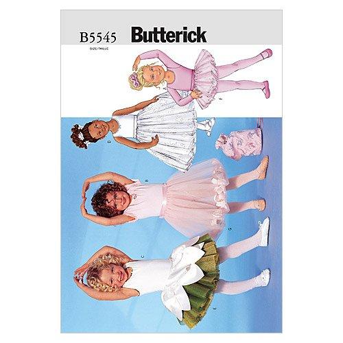 - BUTTERICK PATTERNS B5545 Children's/Girls' Leotard, Skirt, Bag and Ponytail Holder, Size 060 (6-7-8)