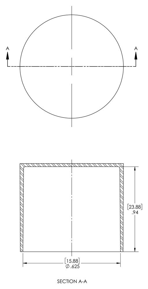 SC-1831 PE-LD Caplugs Z1831Q2 Plastic Sleeve Cap for Tube Ends Cap ID 1.250 Length .87 Pack of 20 Red