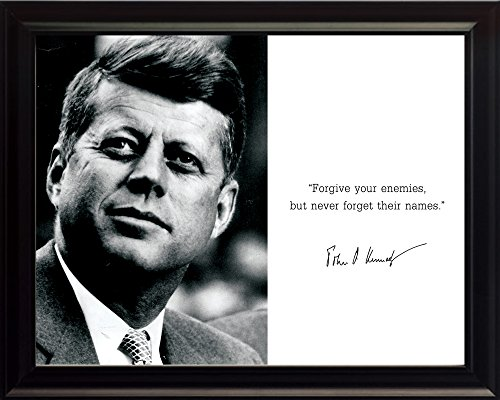 John F Kennedy JFK Photo Picture Poster Framed Quote