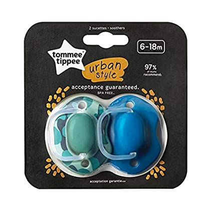 Amazon.com: Tommee Tippee Soothers Urban Style 6-18m: Toys ...