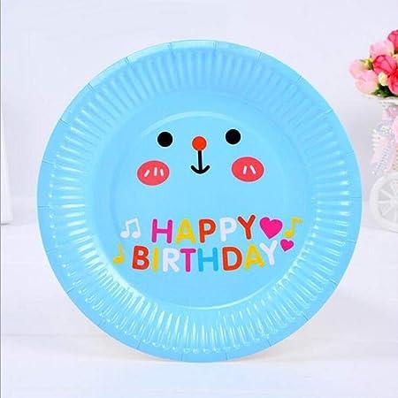Platos desechables, bandeja de papel de cumpleaños ...
