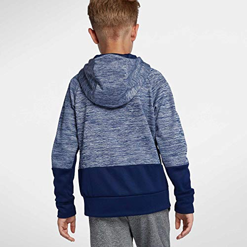 NIKE Boys' Therma Heathered Graphic Hoodie(Blue/Blue, X-Large) by Nike (Image #1)