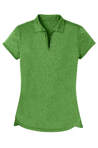 Opna Women's Ladies Moisture Wicking Athletic Golf Polo Shirts Tops & Tees Green (Best Moisture Wicking Golf Shirts)