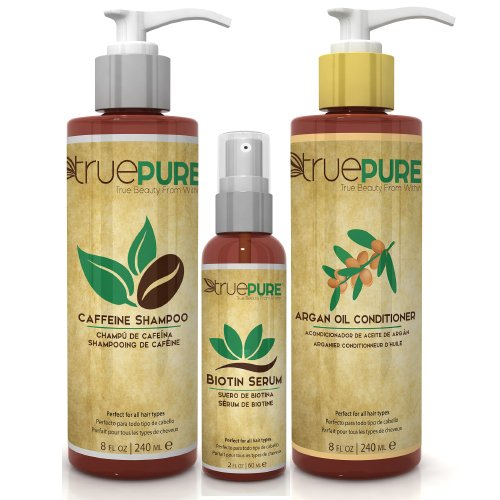 TruePure Argan Oil Conditioner - Deep Conditioning Hair Treatment For Men & Women With Dry, Damaged Hair - Fragrance Free & Sulfate Free Natural Hair Product, 8oz by TruePure (Image #3)