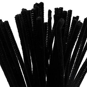 BUDILA® 50x Chenilledraht Biegeplüsch schwarz 6mm dick - 30cm lang BUDILA®-Kreativideen BUDILA 90578