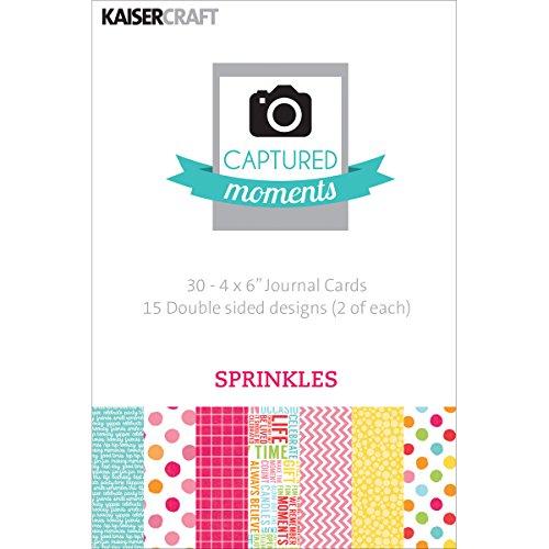 [해외]Kaisercraft Captured Moments Sprinkles Double Sided Cards 6 by 4-Inch 30-Pack / Kaisercraft Captured Moments Sprinkles Double Sided Cards, 6 by 4-Inch, 30-Pack