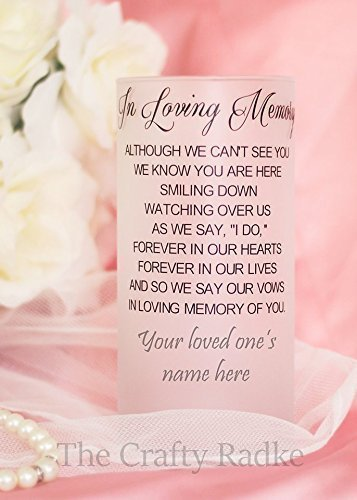 - Personalized Memorial Wedding Candle Holder or Vase