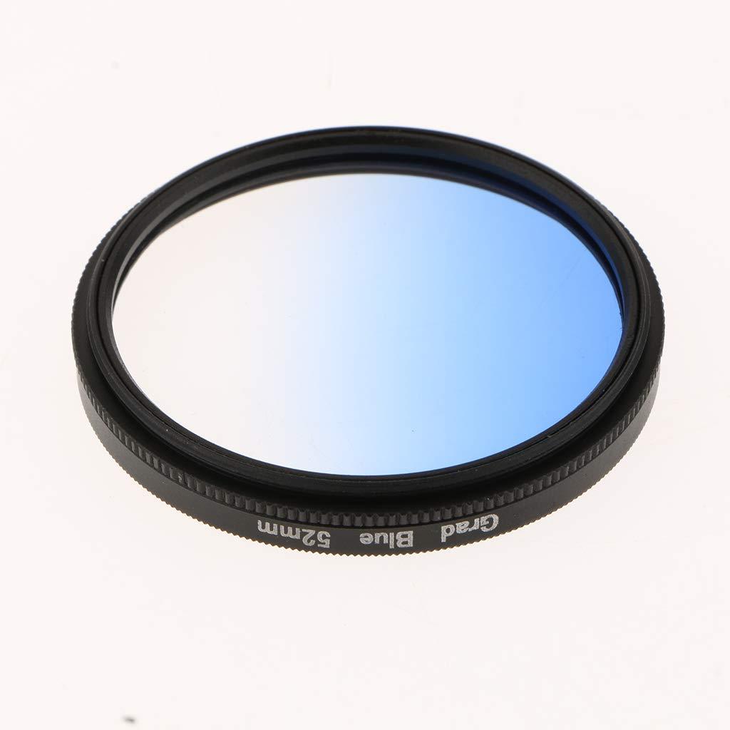 Baoblaze Filtro de Color Gradual Graduado para Canon Nikon DSLR Lente de C/ámara 58mm Rojo