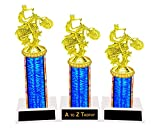 Motorcycle Trophy Trophies 1st 2nd 3rd Place Bike Show Racing Awards Free Engraving Color Choice