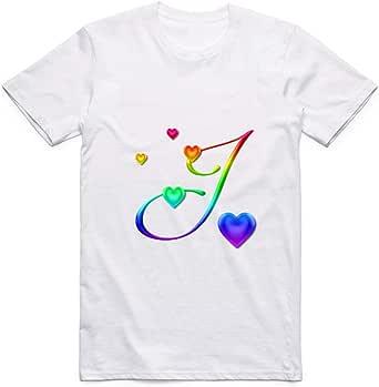 Letter J T-Shirt for Men