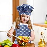 Kids Apron and Chef Hat Set, Adjustable Cotton