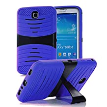 """Goldcherry Hybrid Rugged with Kickstand Cover Hard Case for Samsung Galaxy Tab3 7.0"""" P3200 (Deep Blue)"""