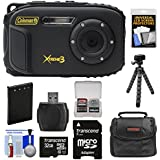 Coleman Xtreme3 C9WP Shock & Waterproof 1080p HD Digital Camera (Black) with 32GB Card + Battery + Case + Flex Tripod + Kit