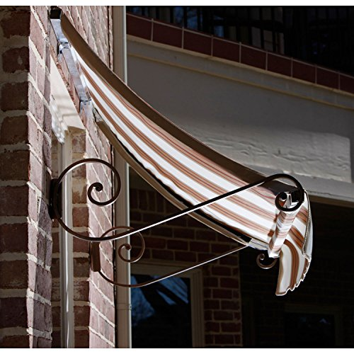 Linen Cotta Terra (Awntech 4-Feet Charleston Window/Entry Awning, 18 by 36-Inch, White/Linen/Terra Cotta)
