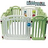 Kiddygem M7 extra tall baby playpen (10 panels) - Green (15.5 sq.ft)
