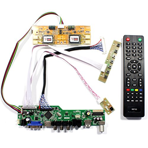 VSDISPLAY HDMI+VGA+CVBS+USB+RF+Audio LCD Motor Driver Board Controller Kit Work For 17