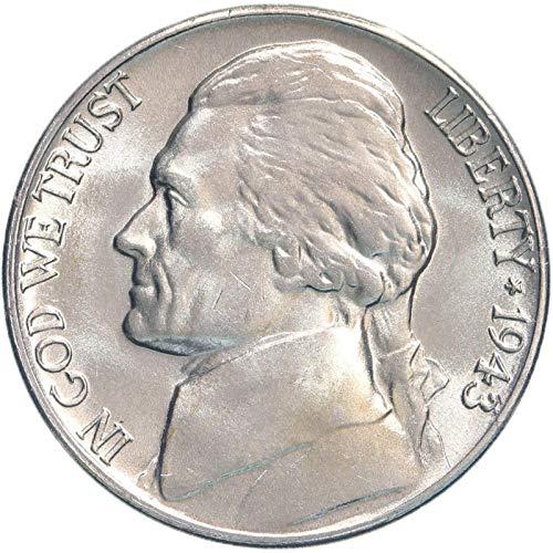 1943 D Jefferson 35% Silver War Nickel Brilliant Uncirculated