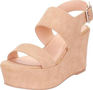 Slingback Chunky Platform Wedge Sandal