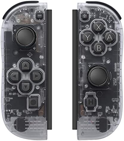 D.Gruoiza Joycon Switch Controllers Have Wake Up Feature, Enhanced Joy-con Remotes Apply to Switch with Wrist Strap (Clear)