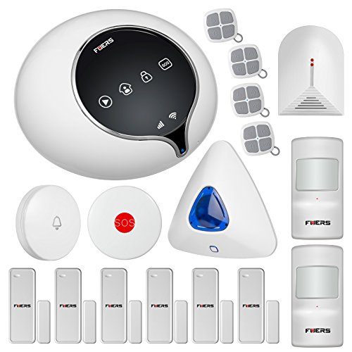 Fuers S1WG WIFI/3G WCDMA Wireless Home Intruder Alarm System Auto Dial DIY Kit Complete Home and Business Security Alarm System Android /IOS Smart Phone APP Control Complete Delay Alert System