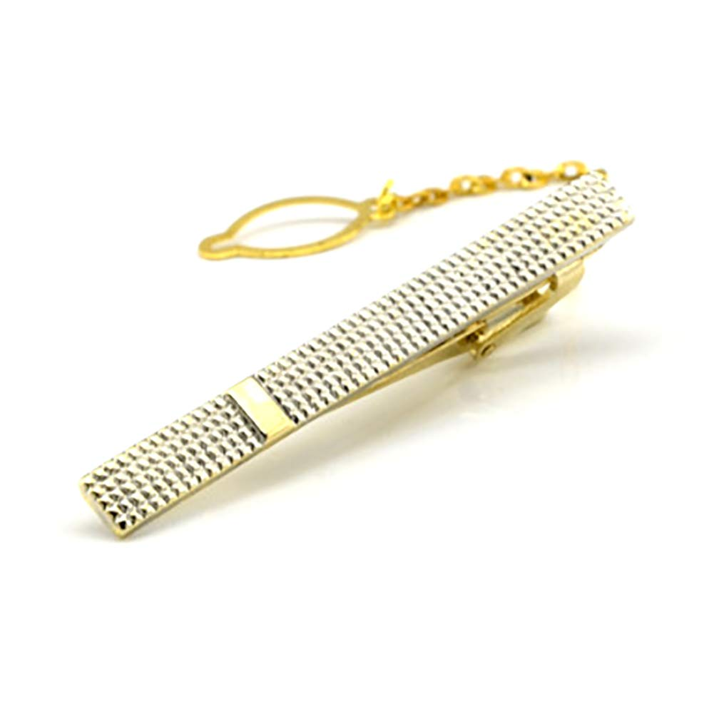 Oldlila 1 pcs Tie Clips Gold Simple Pattern Tie Clips For Men's Business Wedding Clips