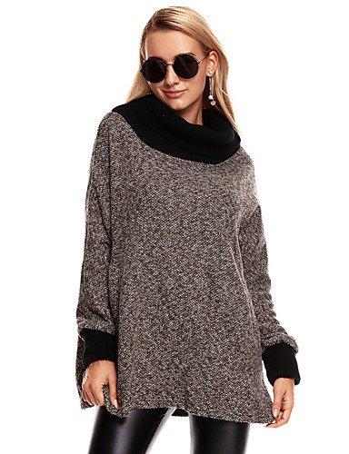 女性と 039 ; sのさりげない日常の簡単な冬のコート、固体スタンドロングスリーブロングポリエステル,l,レッド B077S789GZ