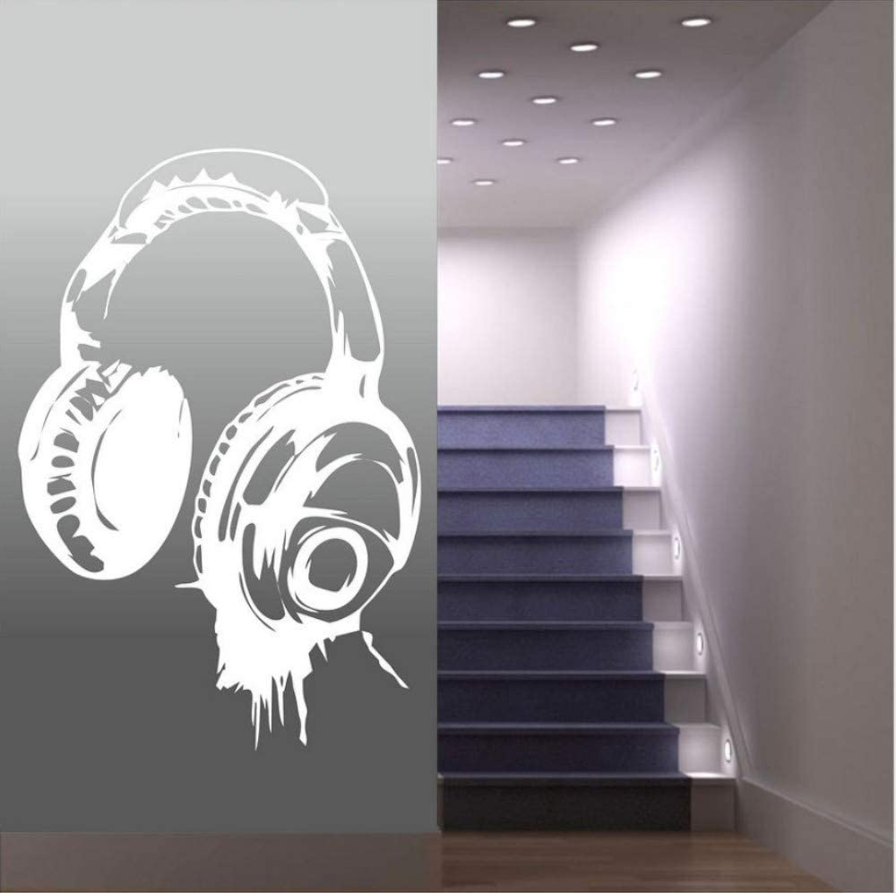 Amazon ヘッドフォン音楽djウォールステッカーアートデザイン壁飾り別