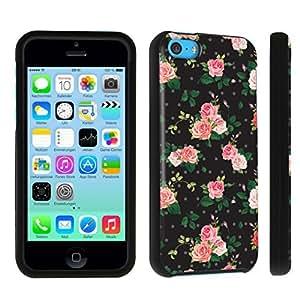 DuroCase ? Apple iPhone 5c Hard Case Black - (White Roses)