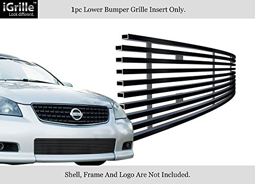 Compatible with 2005-2006 Nissan Altima SER Stainless Steel Black Billet Grille Insert N65268J