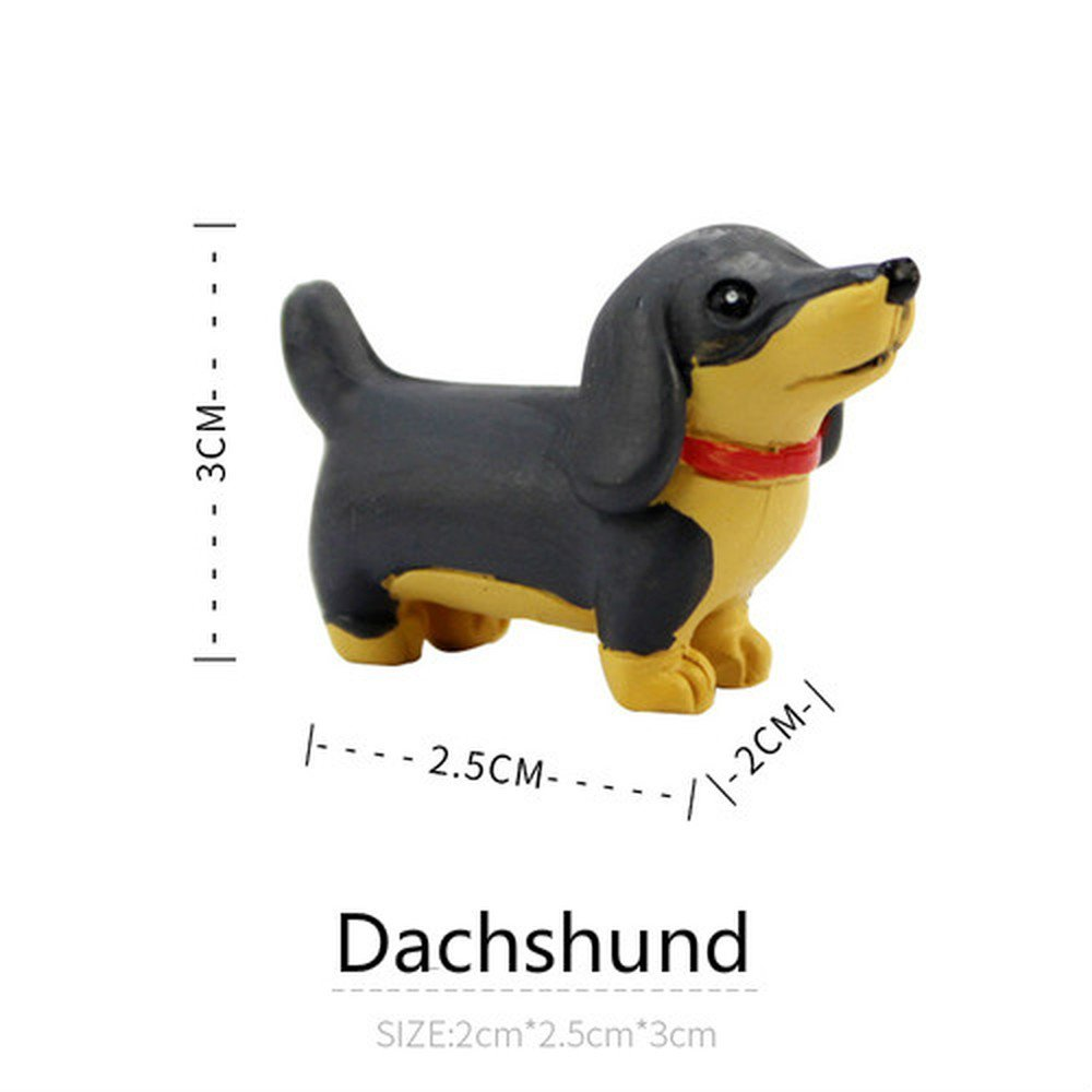 BWLZSP 1 PCS Craft cute lucky Wang Xingren cartoon ornaments creative home living room decorations animal resin AP5301152 (Color : Dachshund)