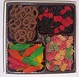 Scott's Cakes Large 4-Pack Chocolate Pretzels, Swedish Fish, Raspberries and Blackberries, & Sour Gummie Bears
