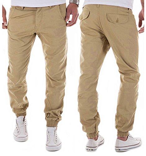 Sweatpants Pantaloni Allenamento Cachi Uomo Moda Pants Casual Morbido Comodo Sports Jeans Tomwell Sportivi Elastici 0FCfxqqw