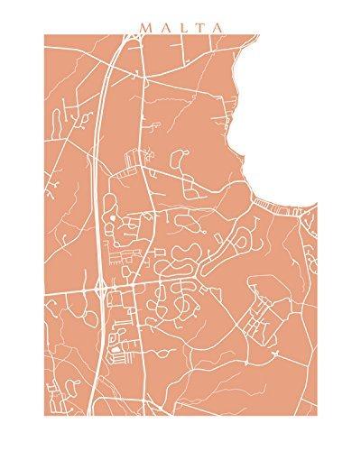 Amazon.com: Malta Map Print - New York Poster: Handmade on