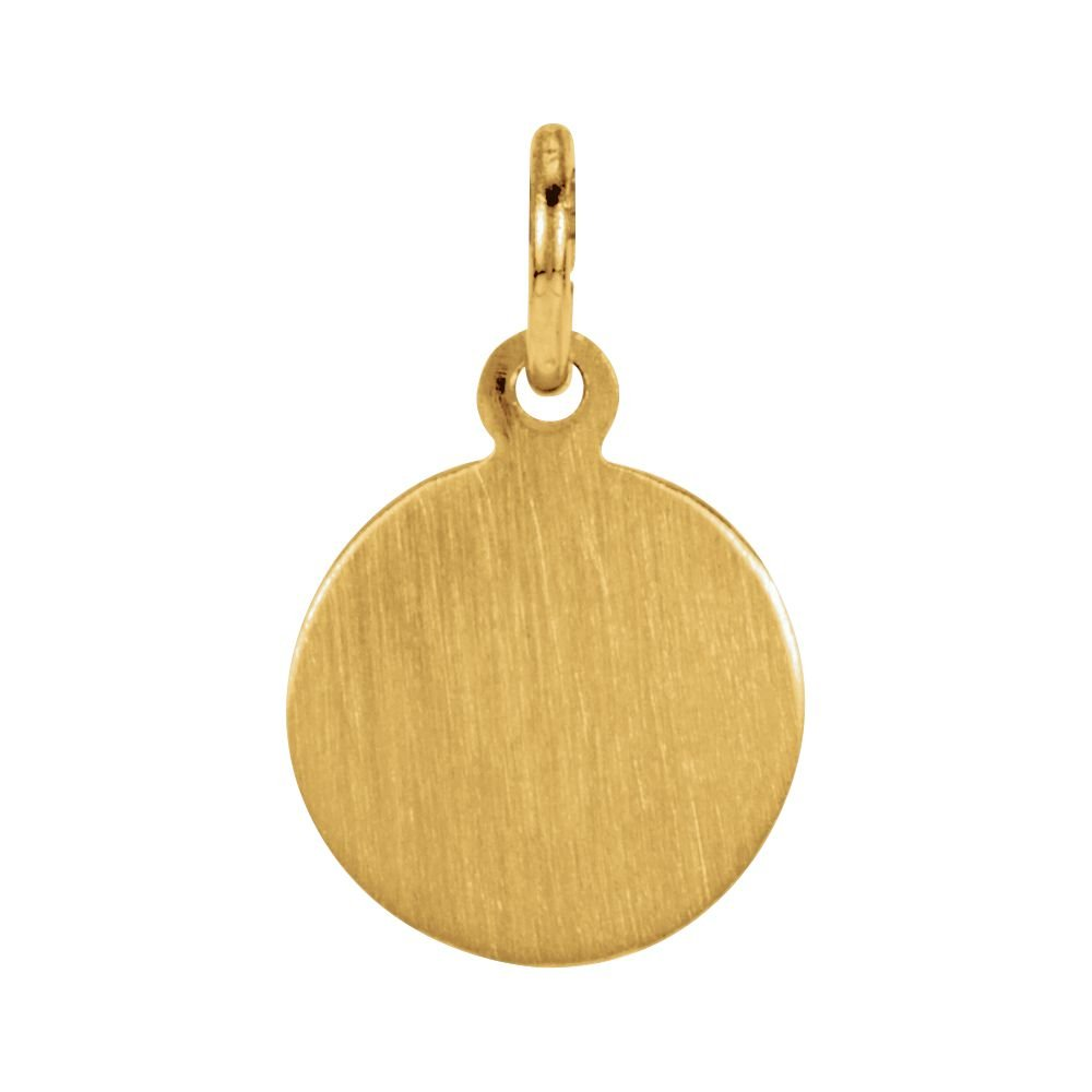 Christopher Medal 14K Yellow Gold 8mm St