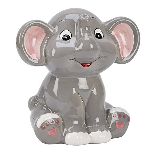 Grey Elephant Bank 5.5″ x 5.5″ Ceramic Safe