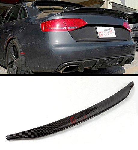 Audi A4 Spoiler - Cuztom Tuning Fits for 2013-2016 Audi A4 B8.5 Cat Style High Kick Duckbill Carbon Fiber Trunk Boot Lid Spoiler Wing