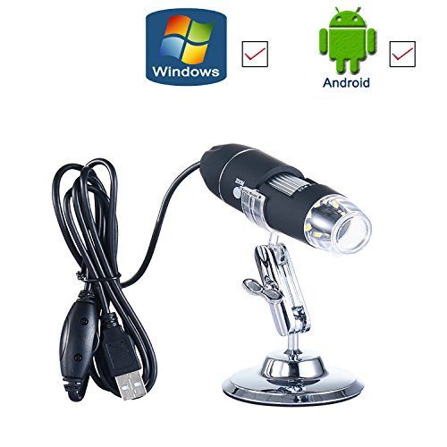 USB Digital Microscope- 1000X Magnification Endoscope- Electronic Magnifier- 2.0MP HD Zoom Lens Camera (8-LED) for Windows-Android-Vista-Linux(OTG Enclosed) by Kaylocheer