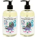 Natural Baby Shampoo Body Wash - Daisy's 2-in-1 Shampoo/Body Wash for Sensitive Skin - Lavender Scent, 12 oz, 2 Pack