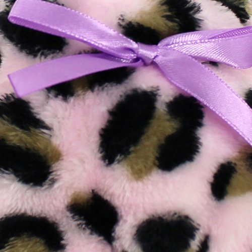 Enimay Donna Stampa Animalier Calze Morbide Pantofola Antiscivolo Scarpe Antiscivolo Suola Rosa   Fiocco Di Lavanda