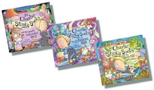 Price comparison product image Sir Charlie Stinky Socks Collection Set Pack,  3 Books,  RRP £17.97 (Sir Charlie Stinky Socks and the Really Big Adventure; Sir Charlie Stinky Socks and the Really Frightful Night; Sir Charlie Stinky Socks and the Really Dreadful Spell)