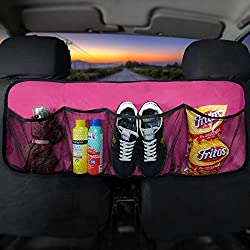 FH Group FH1122PINK Car Trunk Organizer (Multi-Pocket Storage Collapsible for Easy Carry Perfect for Garage or Grocery Store), 1 Pack