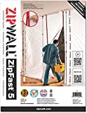 ZipWall ZipFast Reusable Barrier 5' Panel for Dust