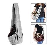 Pet Sling Carrier, Beauty Star Reversible Dog Sling Bag Shoulder Carry Bag Double-sided Pouch Single Shoulder Bag for Dog Cat Bunny under 11 lbs (Grey)