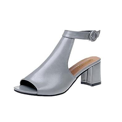 bf3668673c9 Lolittas Summer Women Gladiator Sandals Shoes High Block Heel Wedge  Platform,Open Peep Toe Slingback Laceup Wide Fit Personalised Size Black  2-6 6CM