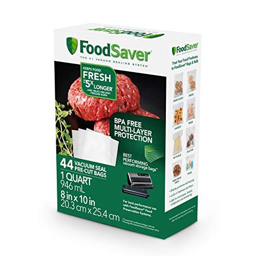 FoodSaver 1-Quart Precut Vacuum Seal Bags with