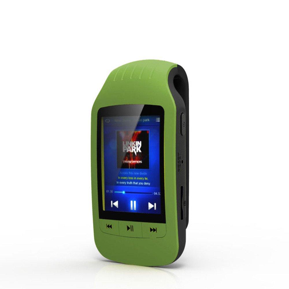 Newest HOTT Mini Clip Metal USB MP3 Bluetooth Player Support Micro SD TF Card Music Media,Freshzone (Green)