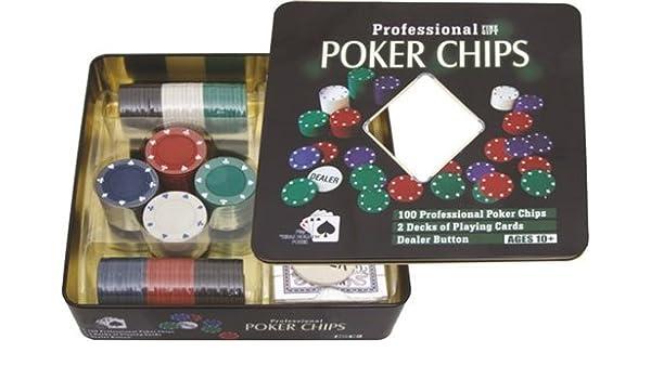 Estuche 100 fichas poker (4,5 gramos) y 2 barajas.: Amazon.es: Hogar