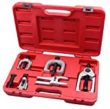 Kauplus 5PCS Front End Service Tool set Separate Pitman Arm Puller Kits Tie Rod Remover Tool Set Ball Joint Separator Tools 5-Piece